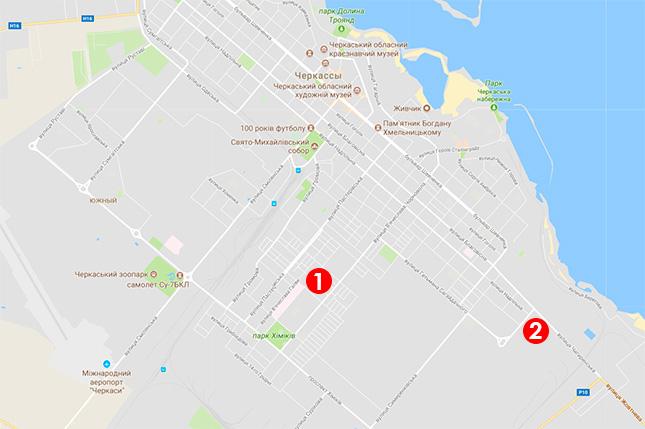 Карта выдачи подоконников в Черкассах