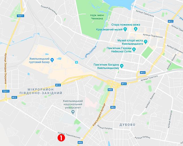 Мапа видачі протимоскітних сіток у Хмельницькому