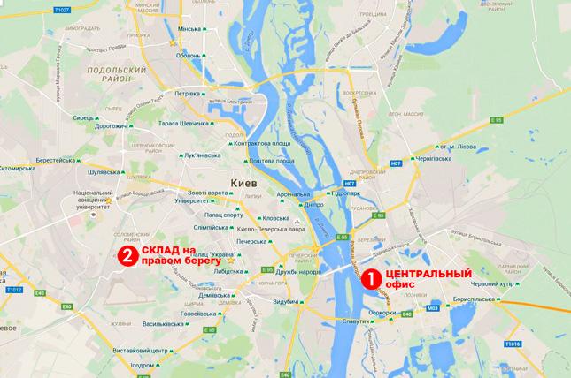 2 адреси оплати та самовивозу підвіконь у Києві