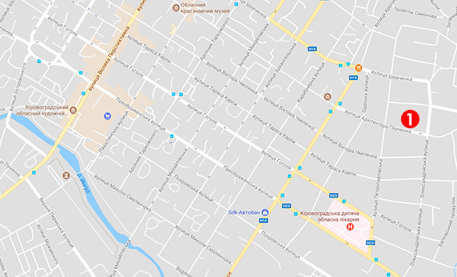 Карта выдачи моситных сеток в Кропивницком (Кировограде)