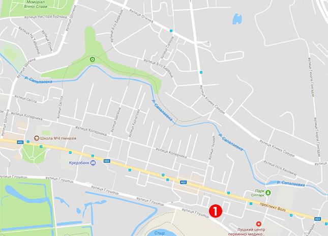 Мапа видачі протимоскітних сіток у Луцьку
