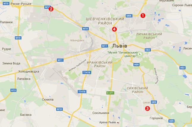 4 відділення видачі москітних сіток у Львові