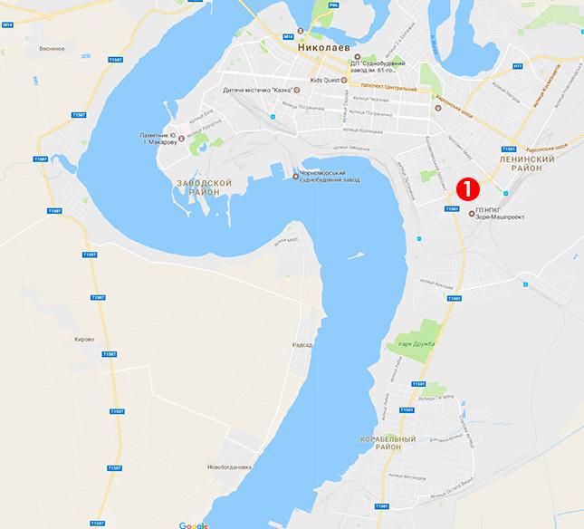 Карта выдачи подоконников в Николаеве