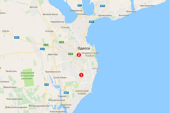 Карта выдачи моситных сеток в Одессе