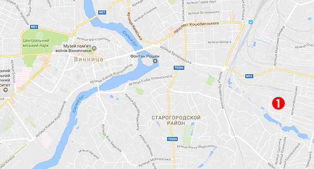Карта выдачи подоконников в Виннице