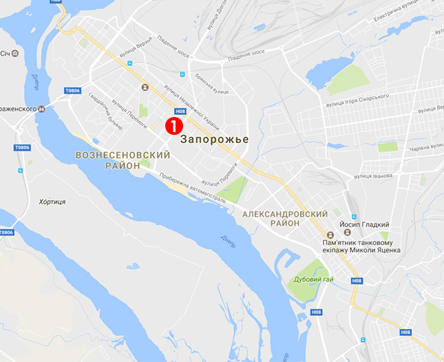 Карта выдачи подоконников в Запорожье