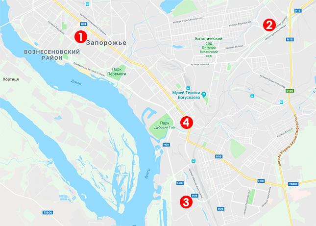 Карта выдачи моситных сеток в Запорожье