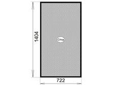 сетка анвис 722 мм x 1404 мм коричневая