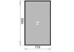 сетка противомоскитная, коричневая 722x1402 для ПВХ окна