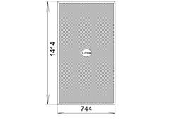 сетка на кармашках 744x1414 для алюминиевого окна