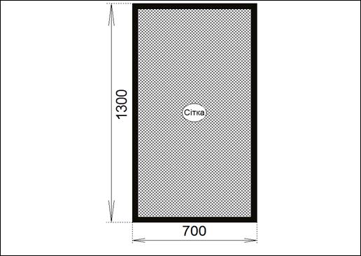 сетка №002 для ПВХ окна