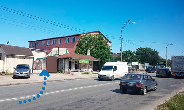 схема проезда на улицу Стеценко, Москитос